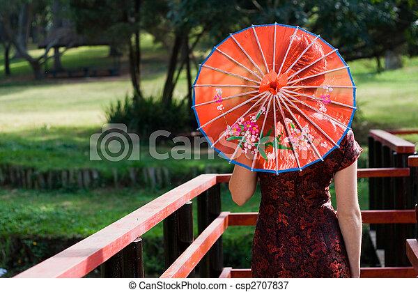 Japanese Woman Umbrella a Japanese Woman Holding an