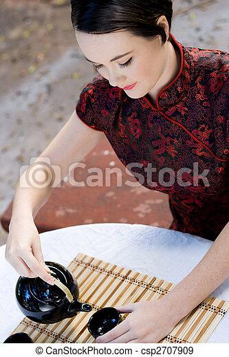 chinese tea ceremony - csp2707909