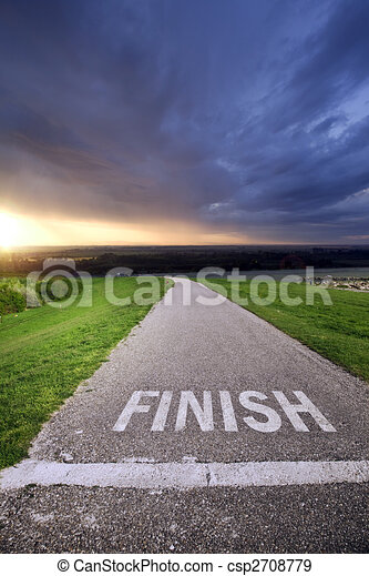 In the finish - csp2708779