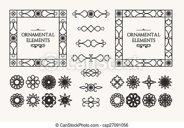 Calligraphic design elements - csp27091056