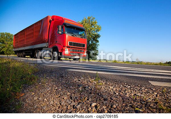 Truck cargo transportation - csp2709185