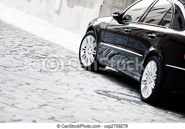 Black luxury car - csp2709279
