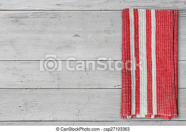 Folded napkin on white table