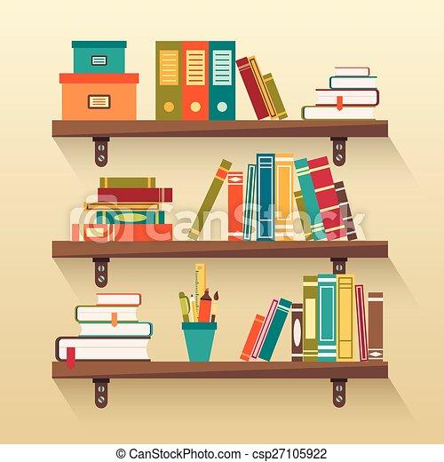 vecteur de fond d tag res livres de biblioth que. Black Bedroom Furniture Sets. Home Design Ideas