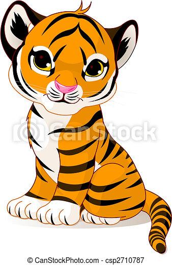 Cute tiger cub - csp2710787