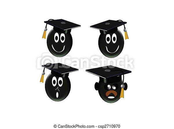 3d grad icons on white - csp2710970