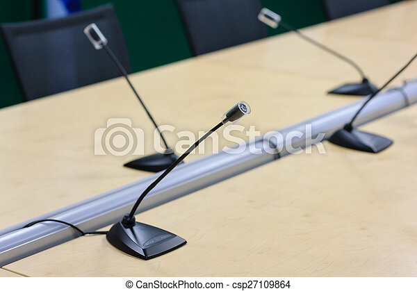 会議, マイクロフォン - csp27109864