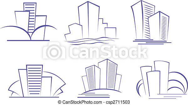 Buildings symbols - csp2711503