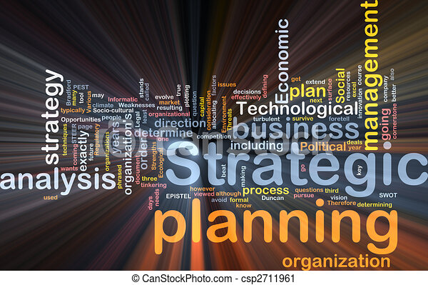 Strategic planning word cloud box package - csp2711961