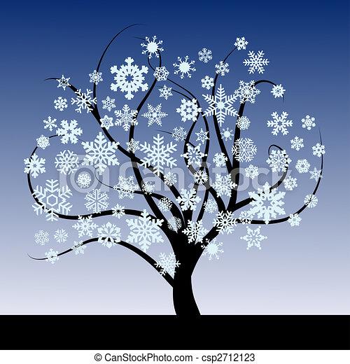 Dessins de r sum arbre flocons neige r sum arbre - Dessins flocons de neige ...