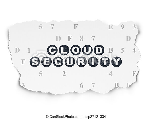 Drawing on Safety And Security Safety Concept Cloud Security