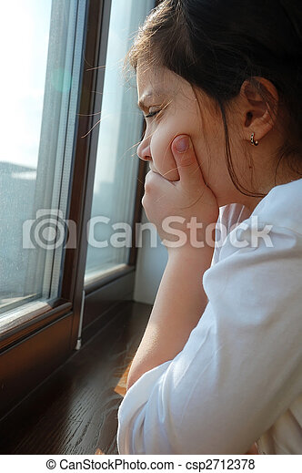 sad girl - csp2712378