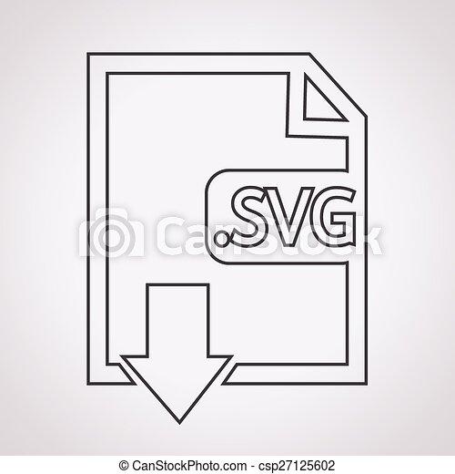 Formaat,  svg, beeld, bestand,  type, pictogram - csp27125602