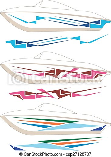 Boat Graphics, Stripe : Vinyl Ready - Royalty Free Stock ...