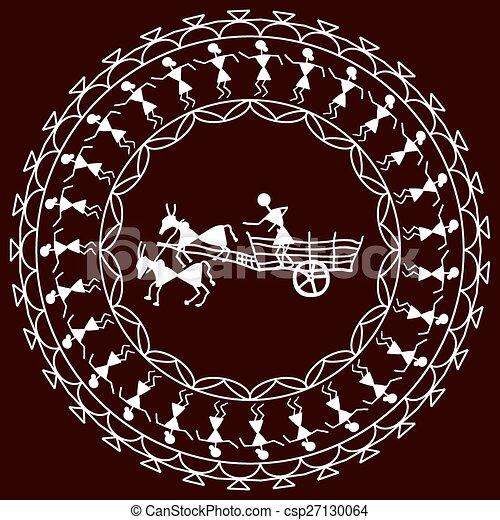 Folk Design Bullock Cart - csp27130064