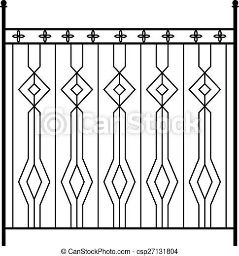 Vector Clipart Of Wrought Iron Gate Door Fence Window