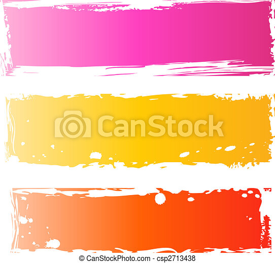 Pretty grungy banners multicolored - csp2713438