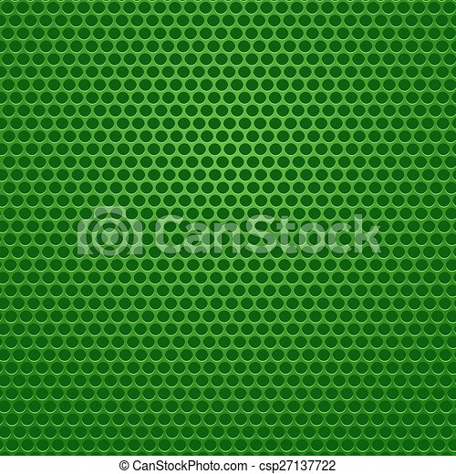 Perforated Green Background. - csp27137722