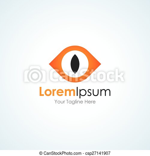 Vector Clipart of Scary monster eye open concept elements icon ...