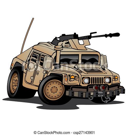 Stock Illustration of Military Truck Illustration ...