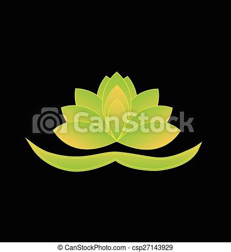 illustration vecteur de lotus logo symbole fleur. Black Bedroom Furniture Sets. Home Design Ideas