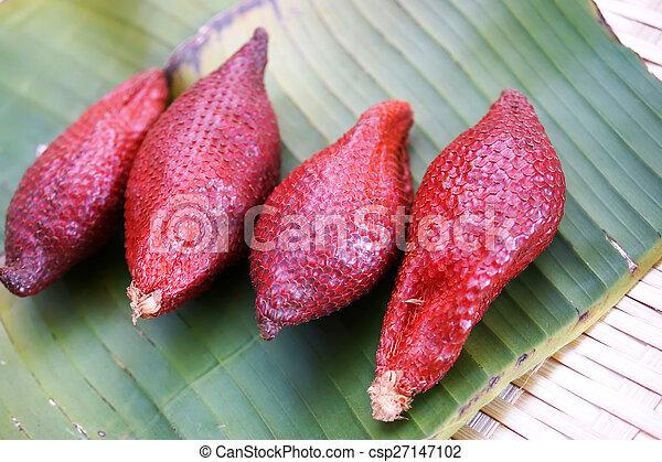 zalacca, wallichiana, más, uno, famoso, fruits - csp27147102