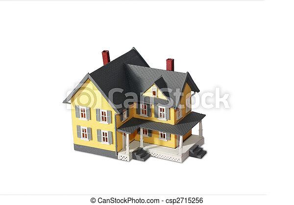 Model house isolated on white background - csp2715256