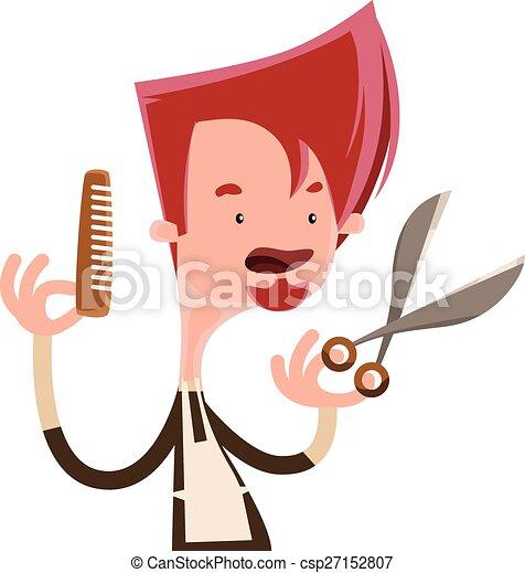 Hair Stylist Holding Scissors - Royalty Free Stock ...