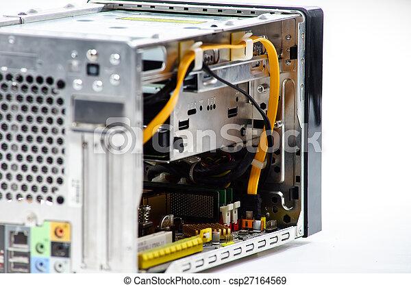 Elegant computer box isolated on white