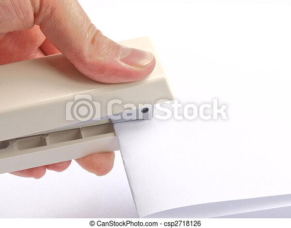 Stock de imagenes de grapadora un mano engrapar papel - Grapadora de mano ...