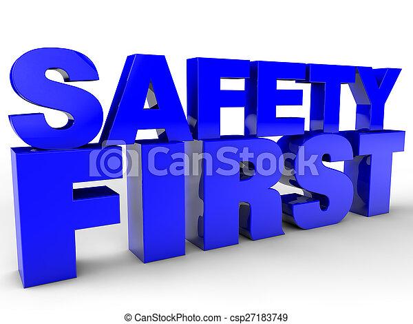 säkerhet, första - csp27183749