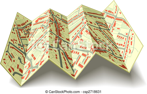 Folding street map - csp2718631