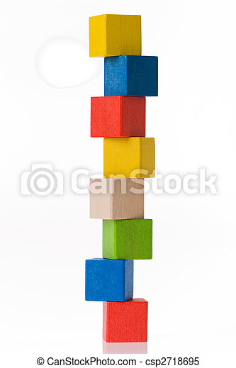 木制, 玩具, 塊 - csp2718695