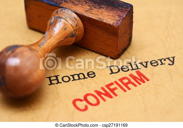Home delivery - confirm - csp27191169