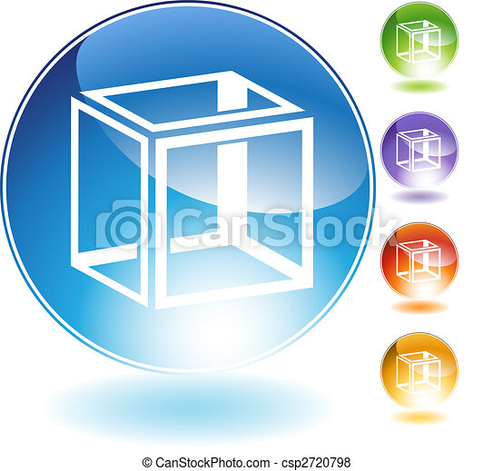 Geometry Cube Crystal Icon - csp2720798
