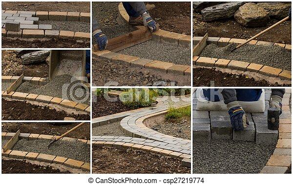 collage, percorso, costruzione - csp27219774