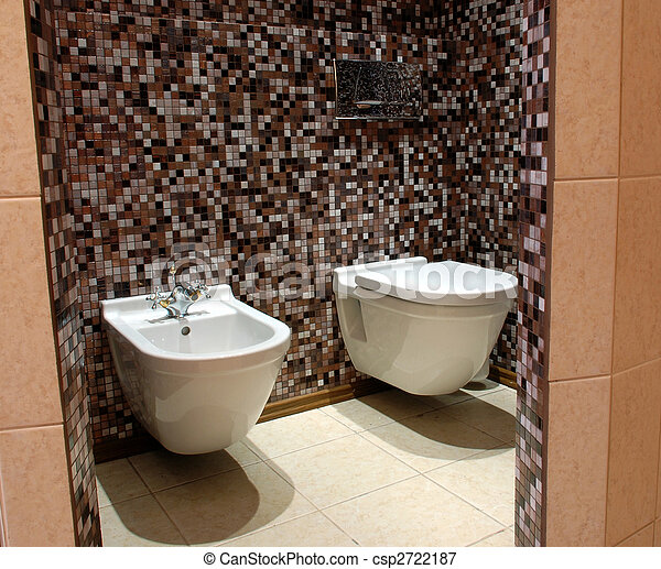 image de wc toilettes moule bidet l gant brun carrel csp2722187 recherchez des. Black Bedroom Furniture Sets. Home Design Ideas