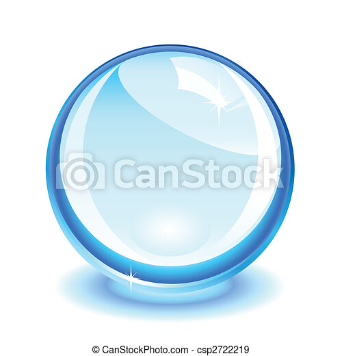 Blue crystal ball - csp2722219