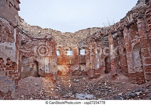 Image de mur d truit pierre texture propri t the cinqui me csp27234778 recherchez - Mur en limite de propriete droit ...