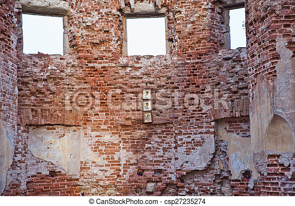 Image de mur d truit pierre texture propri t the cinqui me csp27235274 recherchez - Mur en limite de propriete droit ...