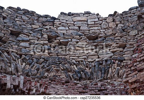 Photos de mur d truit pierre texture propri t the cinqui me csp27235536 - Mur en limite de propriete droit ...
