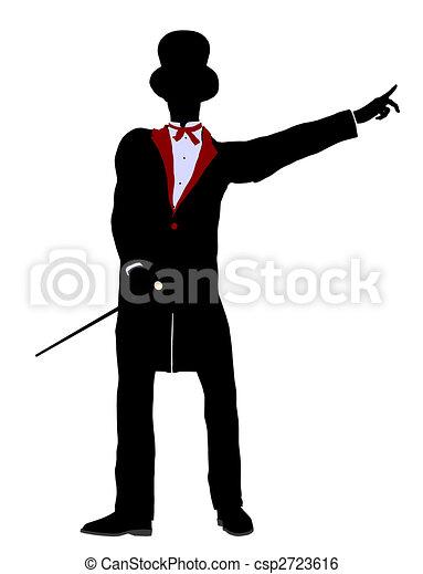 Male Magician Illustration Silhouette - csp2723616