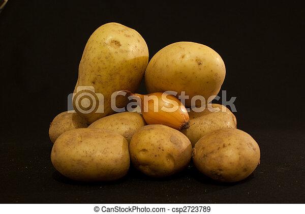 potatoe - potatoes and an Onion - csp2723789