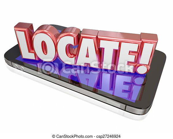 Clipart of Where 3D Word Red Letters Mystery Location Question ...