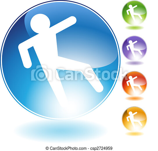 Slippery Floor Crystal Icon - csp2724959