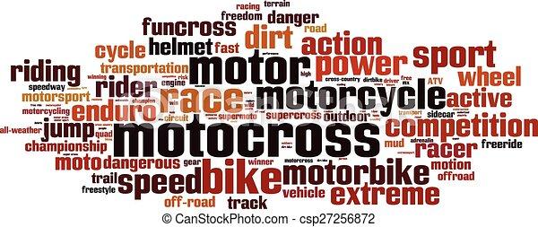 Motocross word cloud - csp27256872