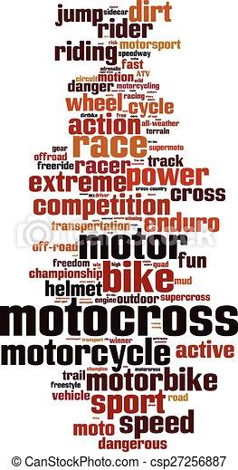 Motocross word cloud - csp27256887