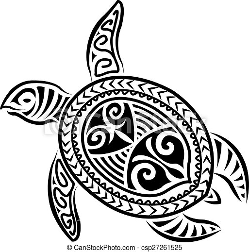 Vector Illustration Of Polynesian Style Turtle Design Csp27261525 Search