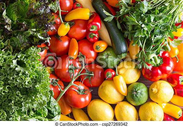 Fresh Organic Vegetables on Top of Wooden Table