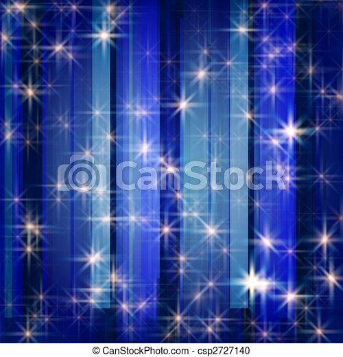 white stars in blue - csp2727140